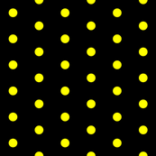 Black and Yellow Polka Dots