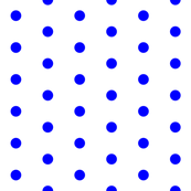 White and Blue Polka Dots