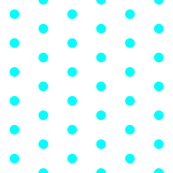 White and Cyan Polka Dots