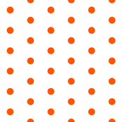 White and Orange Polka Dots