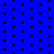 Blue and Black Polka Dots