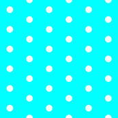 Cyan and White Polka Dots