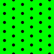 Green and Black Polka Dots