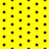 Yellow and Black Polka Dots