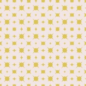 mini splash~mustard on sunbleached pink
