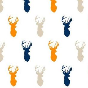 multi buck heads - tan orange custom blue