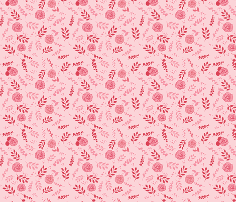 Pink on Pink Floral fabric by annelafollette on Spoonflower - custom fabric