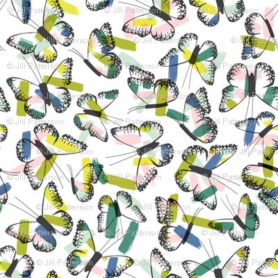 Butterfly Brush Strokes | Wren & Rumor
