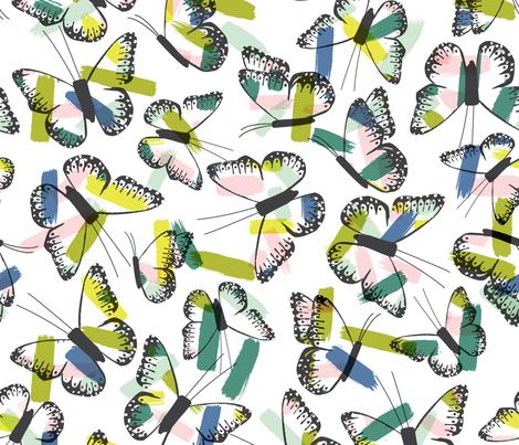 Butterfly Brush Strokes | Wren & Rumor fabric by wren_&_rumor on Spoonflower - custom fabric