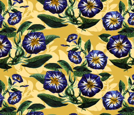 Morning glory fabric by almerk_design on Spoonflower - custom fabric