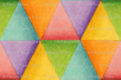 Harlequin Rainbow Triangles