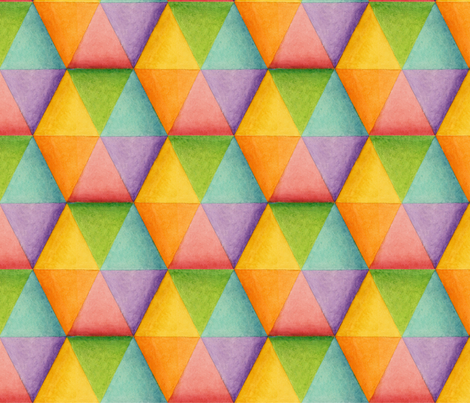 Harlequin Rainbow Triangles fabric by patriciasheadesigns on Spoonflower - custom fabric