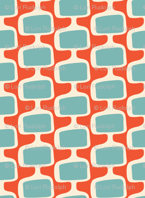 Mid Century Modular TV screens ~ Mandarin creme