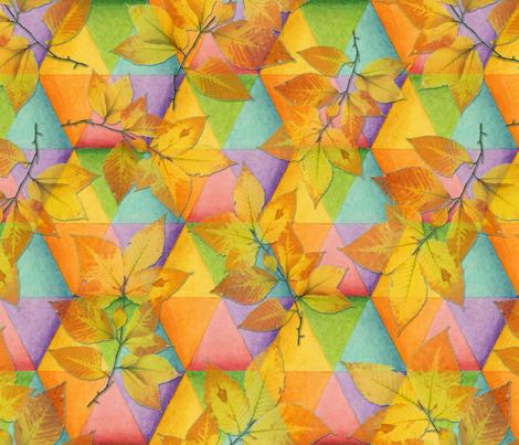 Harlequin Rainbow Leaves fabric by patriciasheadesigns on Spoonflower - custom fabric