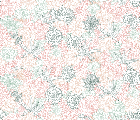 Blossom and Bloom fabric by cynthiahoekstra on Spoonflower - custom fabric