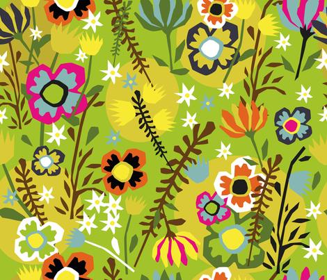 FLEURS_PAPIERS_DECOUPES fabric by melluciani on Spoonflower - custom fabric
