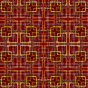 Urban Plaid Square - RED