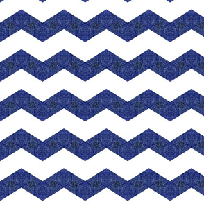 Denim Deconstruction -chevron /blue