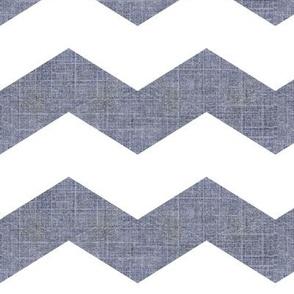 Denim Deconstruction -chevron /fadded denim blue w grey undertones