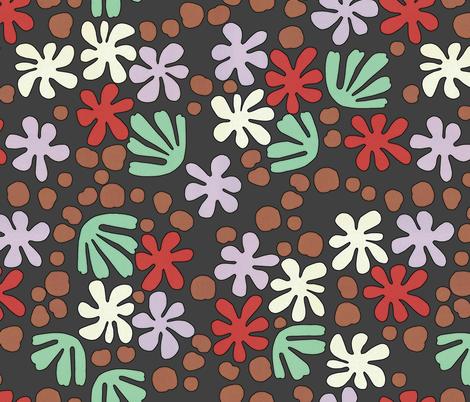 My_Garden_-_Matisse_Flowers fabric by rmc_australia on Spoonflower - custom fabric