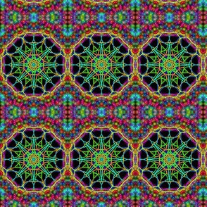 Cosmic Wheels on a Celestial Carpet of Light - Small Scale