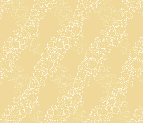 asteroid_yellow fabric by escha_stein on Spoonflower - custom fabric