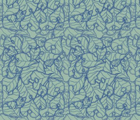 blue_sage_leaves fabric by escha_stein on Spoonflower - custom fabric