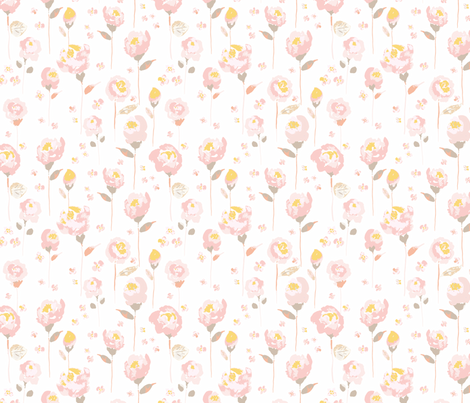 Watercolour Roses  fabric by sharonelliott on Spoonflower - custom fabric