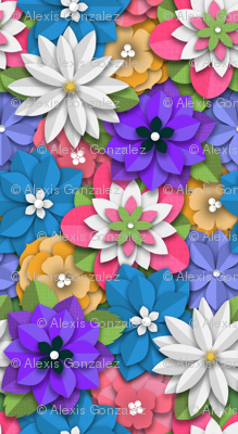 Spring Paper-Cut Bouquet