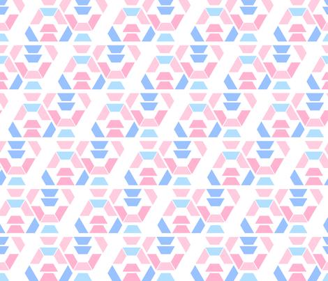 displaced hexagon fabric by kriyan on Spoonflower - custom fabric