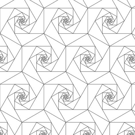 hexagonal geo roses fabric by sef on Spoonflower - custom fabric