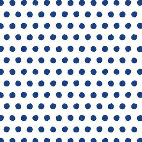 Offset Spots - Navy on White