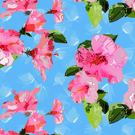 hibiscus confetti fabric by keweenawchris on Spoonflower - custom fabric