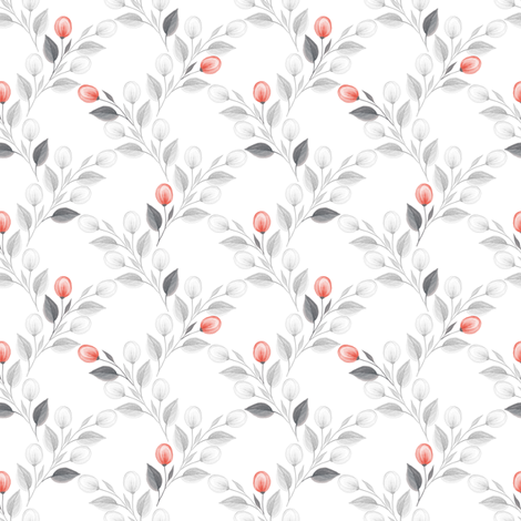 Romantic flowers fabric by gribanessa on Spoonflower - custom fabric