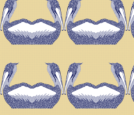 pelican_gold fabric by escha_stein on Spoonflower - custom fabric