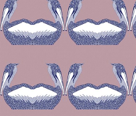 pelican_rose fabric by escha_stein on Spoonflower - custom fabric