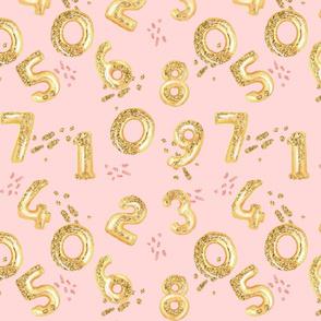 Gold Glam Birthday Balloons