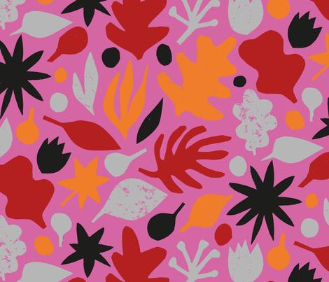 Always Flowers (pink) fabric by seesawboomerang on Spoonflower - custom fabric