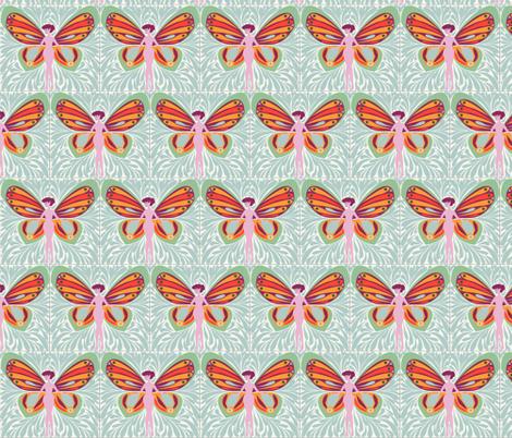 Fantastical Fairies fabric by flowerfossil on Spoonflower - custom fabric