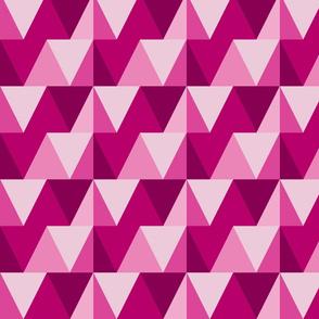 pink triangles // dark