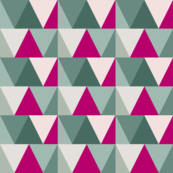 teal triangles // pink pop