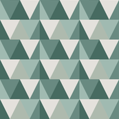 teal triangles // light
