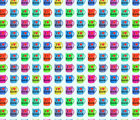 I Love Seattle Rainbow Mugs fabric by honeyberrystudios on Spoonflower - custom fabric