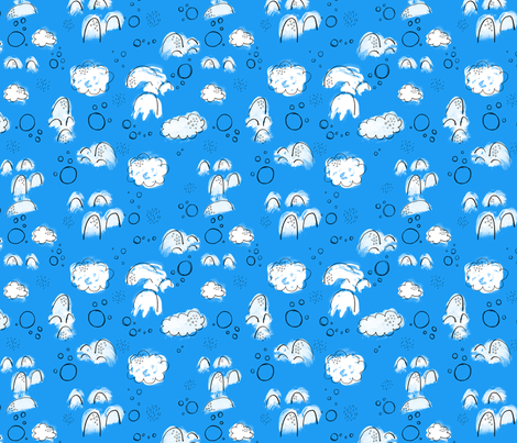 Abstract Clouds fabric by katievaz on Spoonflower - custom fabric