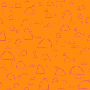 Abstract Orange and Pink Shapes