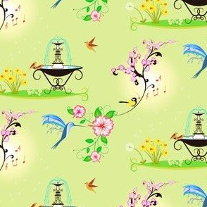 Birds And Blooms - Spring Atmosphere