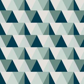 teal triangles // dark