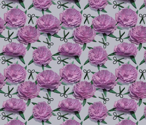 9_paper_peony_light fabric by leroyj on Spoonflower - custom fabric