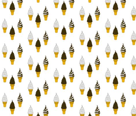 Opposites Attract - Vanilla and Chocolate fabric by cdmackeyfree on Spoonflower - custom fabric