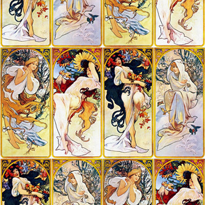 Alfons Mucha 1895 The Four Seasons